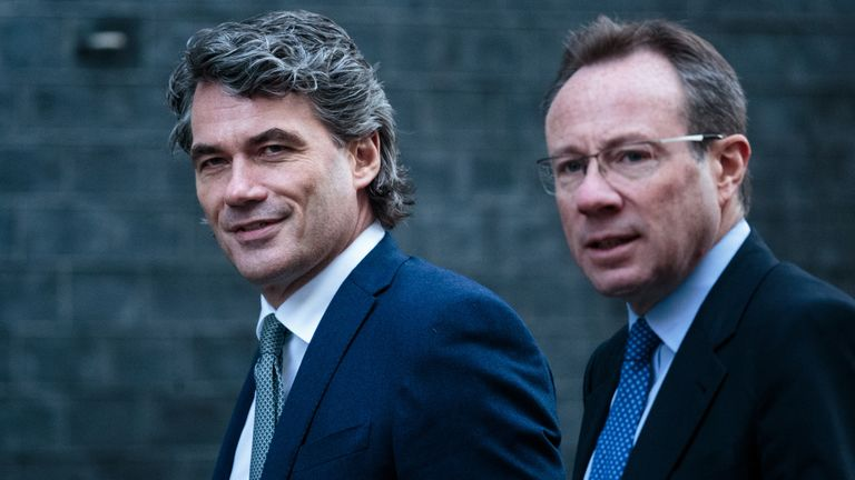 Philip Jansen (r) succeeded Gavin Patterson (l) as chief executive of BT earlier this year