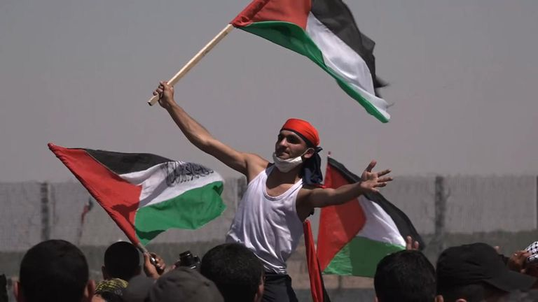 Thousands at Gaza border protests as Palestinians mark 71 years of displacement
