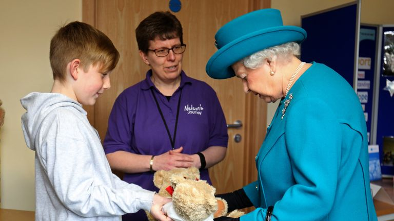 The Queen takes teddies for George and Charlotte