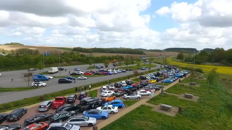 More than 100 cars were taking part in the event