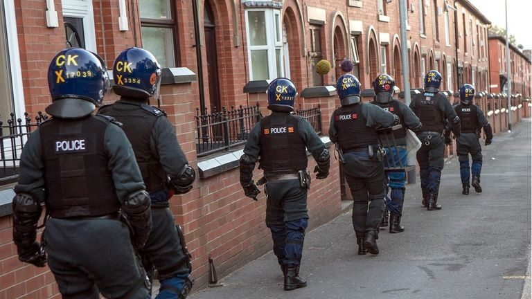 Police carried out a series of dawn raids across Oldham on Thursday morning
