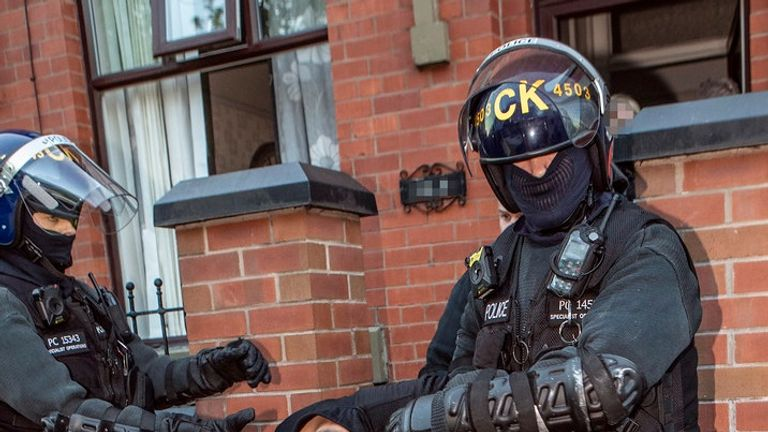 Police made five arrests as part of the dawn raids across several address in Oldham on Thursday morning