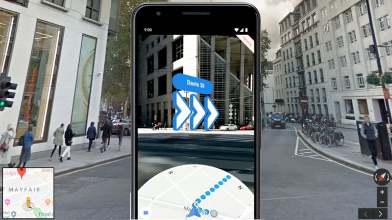 The Pixel 3a will also feature an AR maps guide