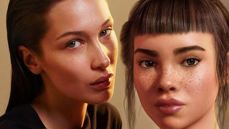 Calvin Klein apologises over Bella Hadid kissing robot advert