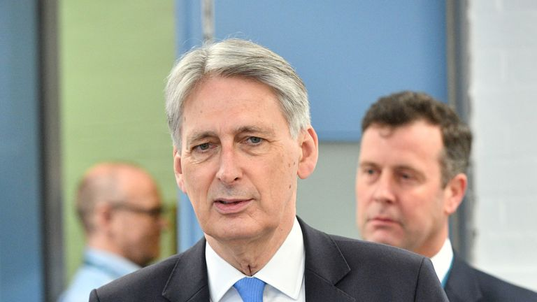 Philip Hammond said he was optimistic there would not be a recession