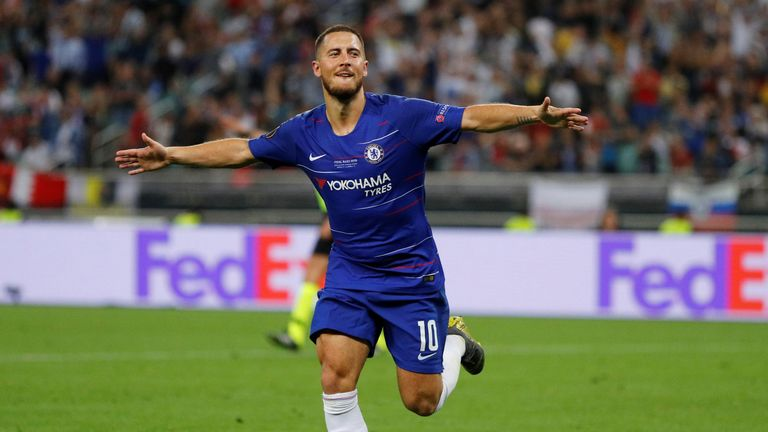 Eden scored twice in what could be his final game for Chelsea
