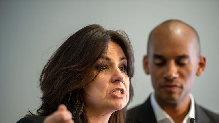 Heidi Allen, left, and Chuka Umunna are two of the leading figures in Change UK