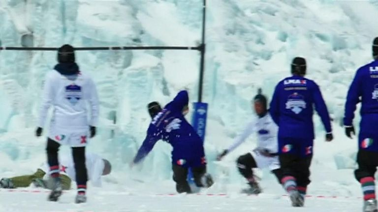 Highest rugby union match ever played takes place on Mount Everest