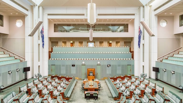 Inside Australia's House of Representatives, known as the lower house