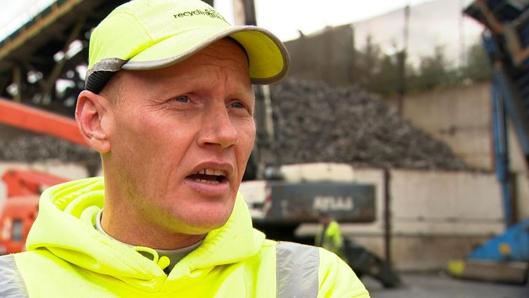 Ian Green spent seven years in and out of prison before being given a chance to work for Recycling Lives