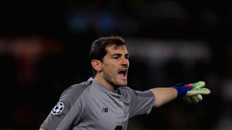 Iker Casillas in Champions League action for FC Porto