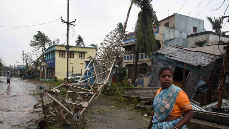 Cyclone Titli left a trail of destruction in Andhra Pradesh in 2018