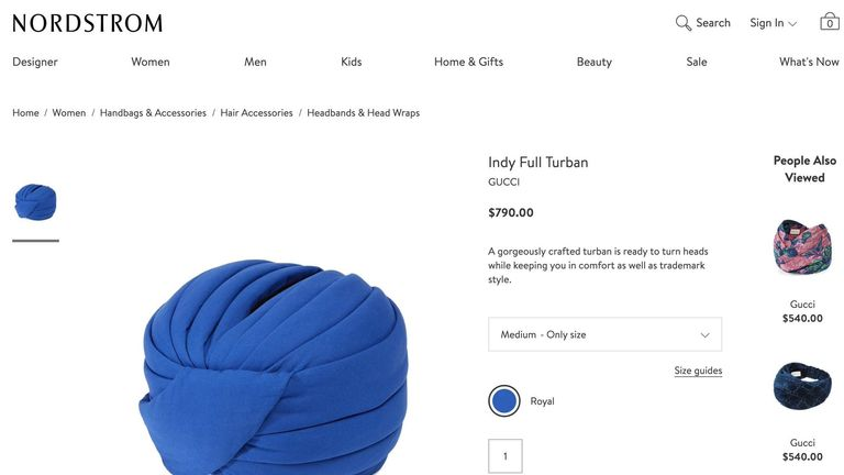 fbbebdd9d01 Gucci accused of  cultural appropriation  for selling £600 turban ...