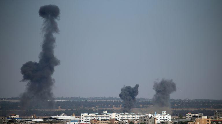 Israel has fired retaliatory airstrikes into southern Gaza