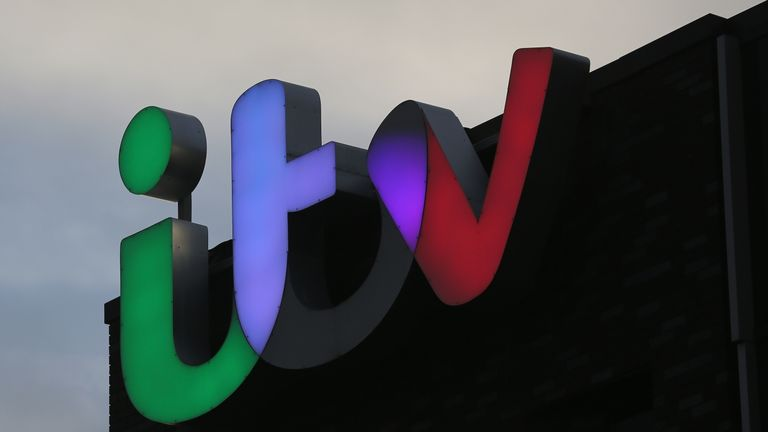 SALFORD, ENGLAND - JANUARY 05:  The ITV logo is displayed on studio buildings studios at Media City in Salford Quays which is home to the BBC, ITV television studios and also houses many media production companies on January 5, 2015 in Salford, England. The BBC and neighbour ITV Granada with its cobbled street studios of ITV soap opera 'Coronation Street', line the banks of the Manchester Ship Canal.  (Photo by Christopher Furlong/Getty Images)