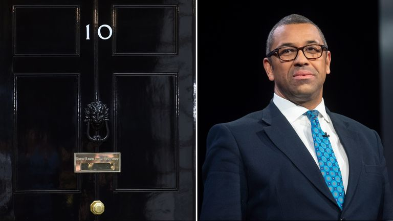 Brexit minister James Cleverly says he is joining the battle for Number 10