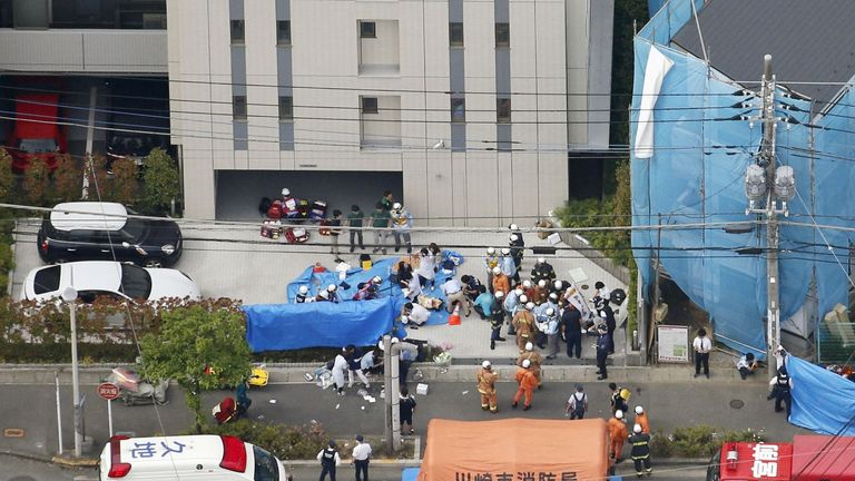 16 hurt and two killed as man stabs girls waiting for bus in Japan