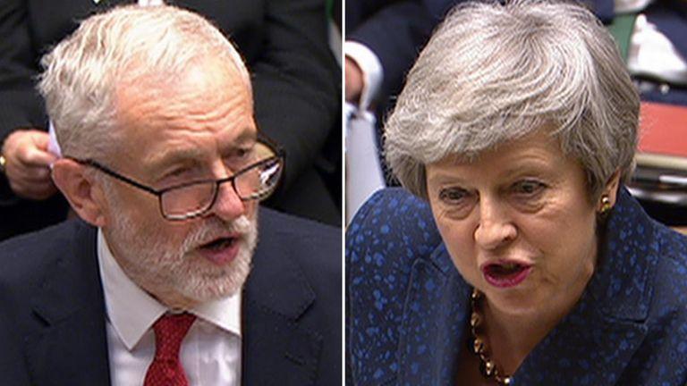 Jeremy Corbyn and Theresa May