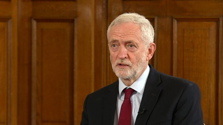 Labour leader Jeremy Corbyn speaks to Sky News about Theresa May's decision to resign her premiership.