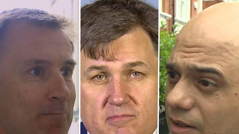 Three Tory leadership hopefuls argue their cases for tackling Brexit and being prime minister