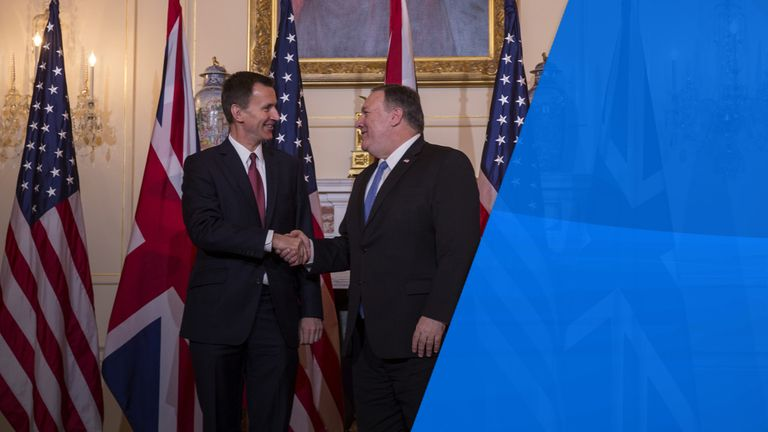 Jeremy Hunt and Mike Pompeo met in Washington in January
