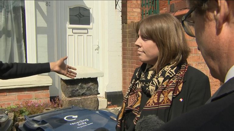 Jess Phillips MP faces anti-LGBT protesters in Birmingham