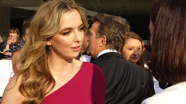 Killing Eve star Jodie Comer has spoken to Sky News about the success of the show.