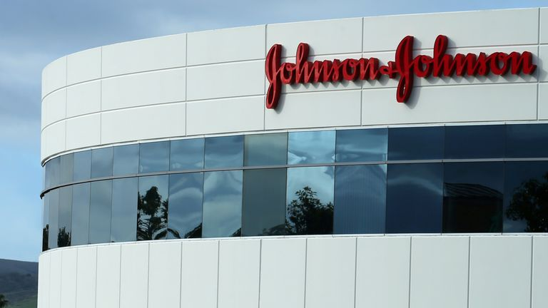 FILE PHOTO: A Johnson & Johnson building is shown in Irvine, California, U.S., January 24, 2017