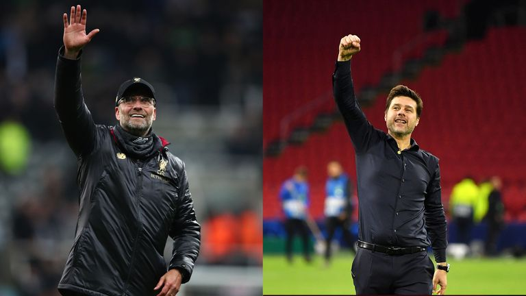 Jurgen Klopp (l) and Mauricio Pochettino