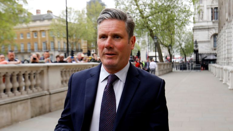 Keir Starmer has said a new referendum will have to be part of any deal with the Conservatives