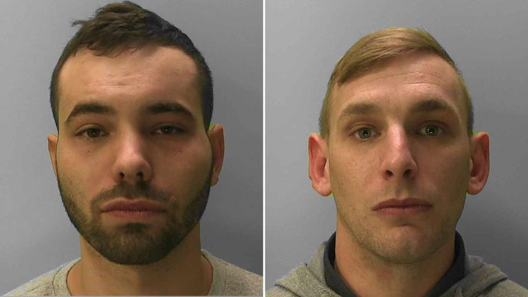 Kyle Wood (l) and Greg Akehurst have been jailed
