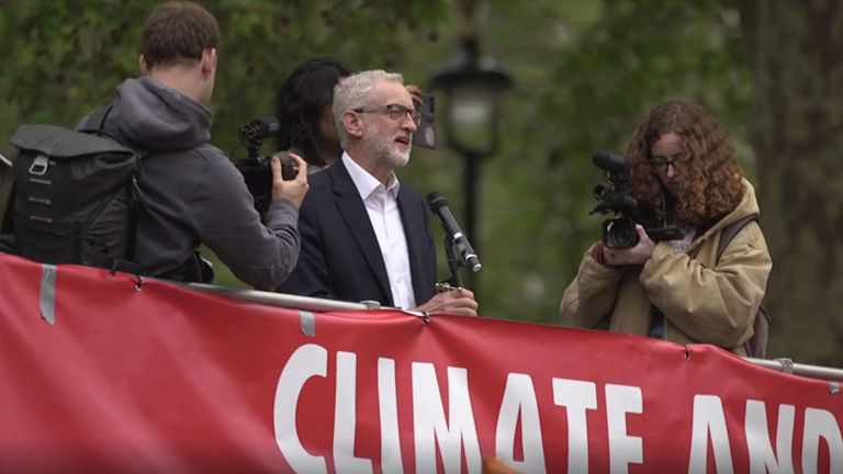 Jeremy Corbyn told protesters at Parliament Square the vote was just the start