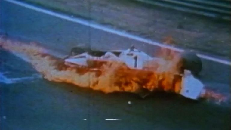 NIKI LAUDA LOSES CONTROL AND CRASHES IN FLAMES CR-BRUNSWICK FILMS