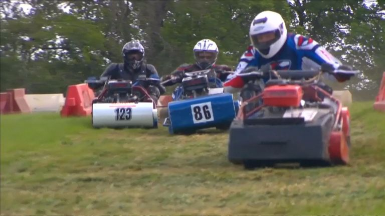 Ready, steady, mow: British lawnmower racing season underway