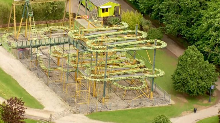 The ride is described as 'an epic ascent to the treetops'
