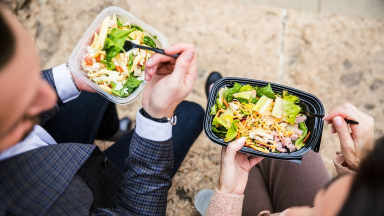 'Lunch on the go' items often come in plastic packaging