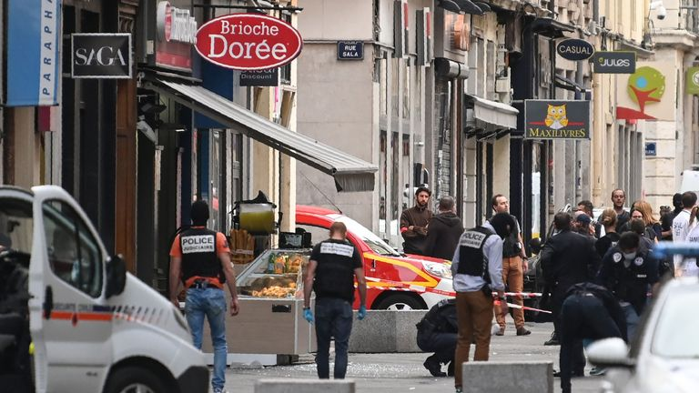 The blast took place at a Brioche Doree baker in cental Lyon