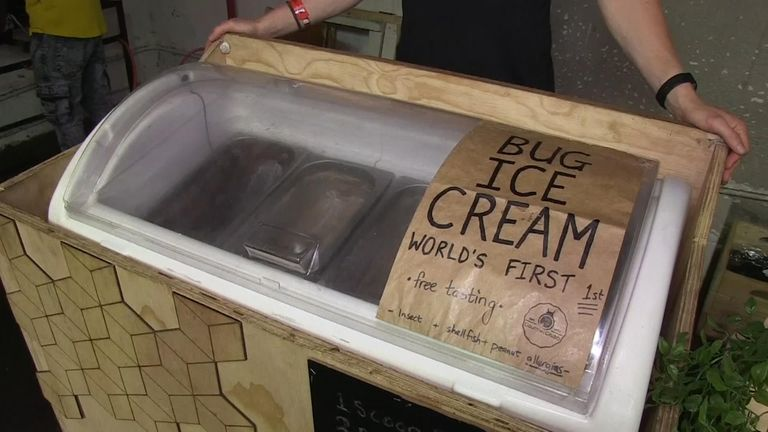 Maggot ice cream