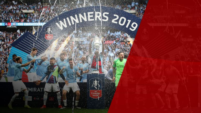 Manchester City won a domestic treble