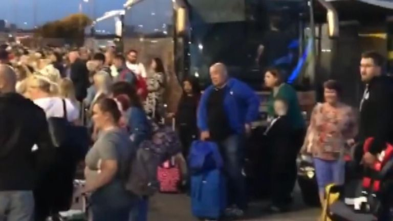 Thousands were stranded at Manchester Airport after dozens of flights were cancelled and delayed due to fuel supply problems.