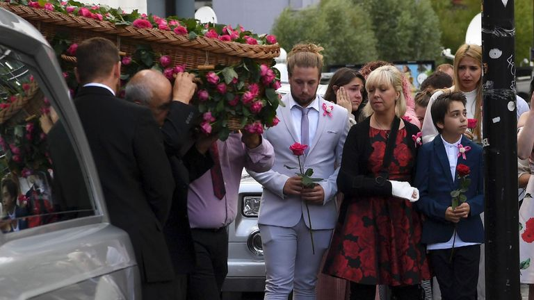 Saffie's funeral was held in July 2017