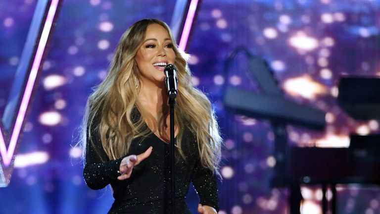 "Mariah Carey was unable to attend the ceremony, but said her award for ""extraordinary global talent"" was an ""incredible honour"""