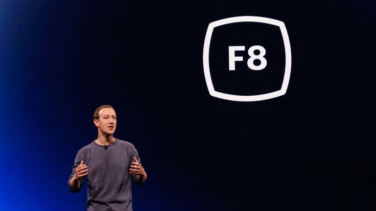 Facebook CEO Mark Zuckerberg delivers the opening keynote introducing new Facebook, Messenger, WhatsApp, and Instagram privacy features at the Facebook F8 Conference at McEnery Convention Center in San Jose, California on April 30, 2019. - Got a crush on another Facebook user? The social network will help you connect, as part of a revamp unveiled Tuesday that aims to foster real-world relationships and make the platform a more intimate place for small groups of friends. (Photo by Amy Osborne / A