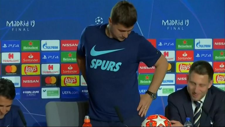 Tottenham manager Mauricio Pochettino has been fielding questions surrounding his weight ahead of the Champions League final.