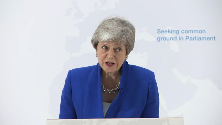 Theresa May said her Brexit bill will include a requirement to hold a vote on whether or not to have a second referendum