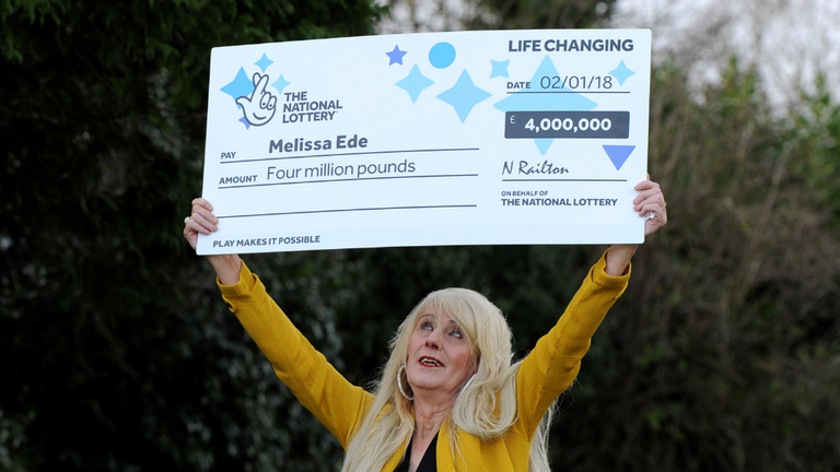Ms Ede won £4m on a lottery scratchcard in 2017