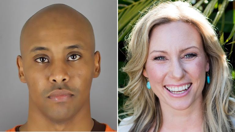 Mohamed Noor has been convicted of Justine Damond's murder. Pics: AFP/Hennepin County Sheriff's Office/Stephen Govel Photography/Reuters