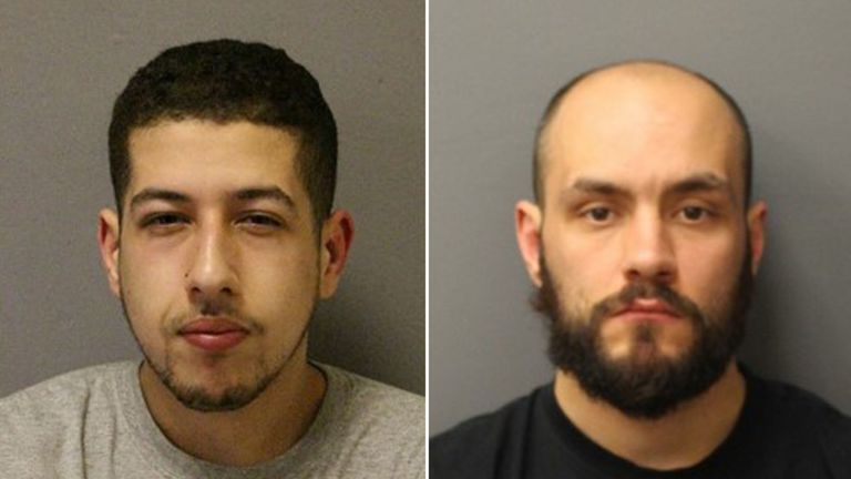 Two of the 12 members: Omar Tafat (left) got eight years and five months; Terry Marsh 13 years and two months