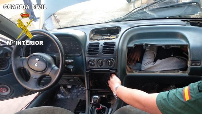 Migrant found in Morocco. Pic: Civil Guard