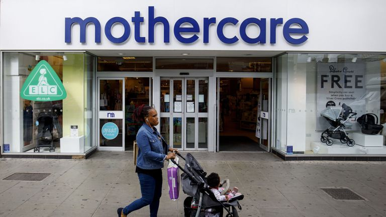 Mothercare has been among retailers feeling the strain on the high street